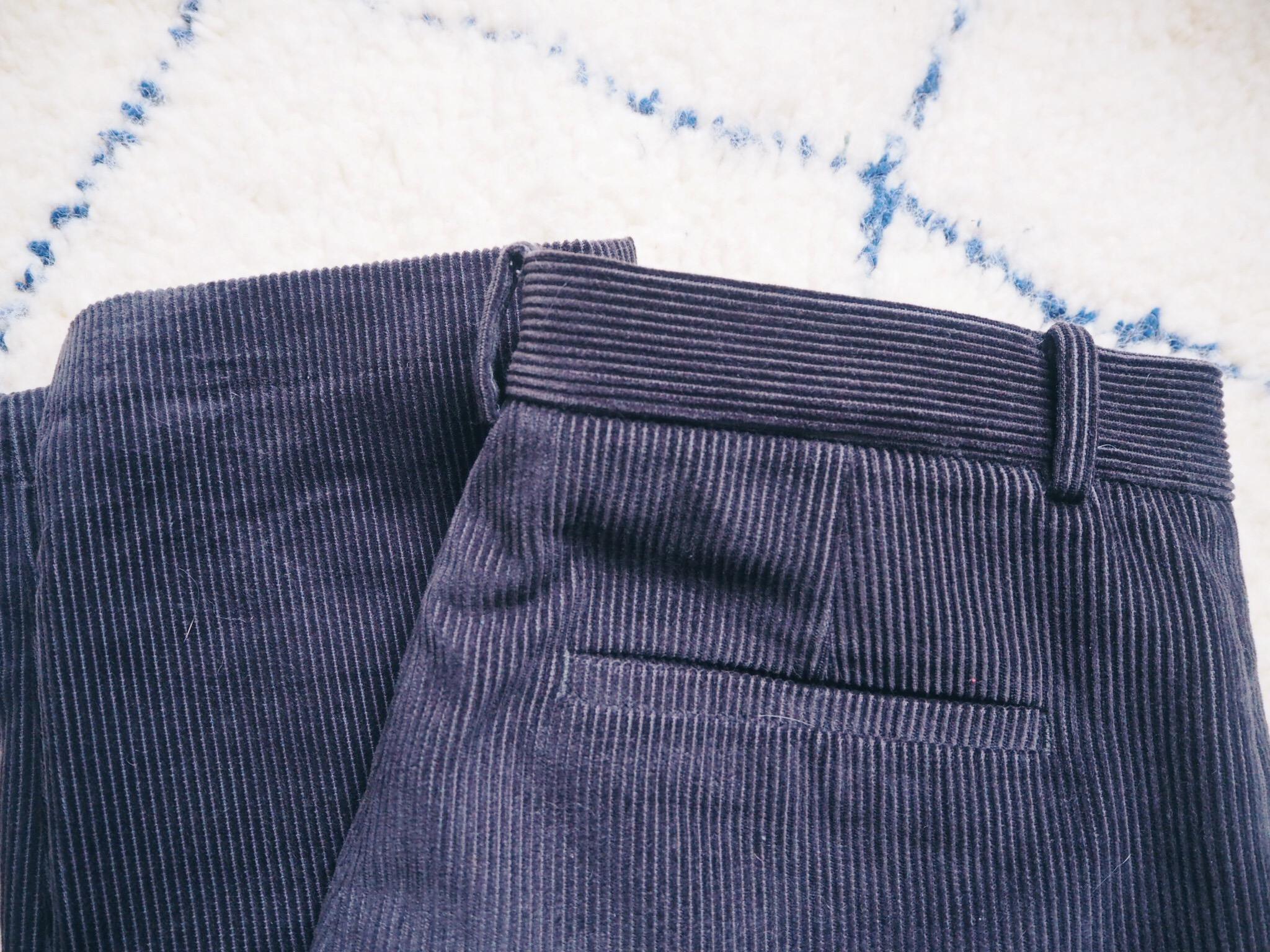 pantalon en velours c tel homme. Black Bedroom Furniture Sets. Home Design Ideas